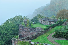 Eastern garden of the Heidelberg castle, Germany stock images
