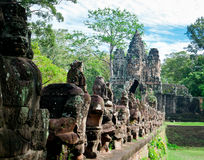 Eastern Gate of Angkor Stock Image