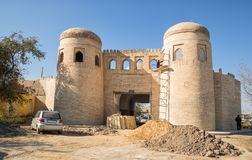 Eastern gate Khazarasp-Darvaza of Khiva Stock Image