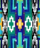 Eastern geometric pattern on the fabric Stock Photos