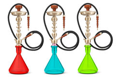 Eastern Glass Hookahs Royalty Free Stock Photography
