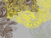 Eastern hand drawn background. Eastern stylish hand drawn background Royalty Free Stock Photos