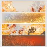 Eastern hand drawn banners set. Eastern stylish hand drawn banners set Royalty Free Stock Images
