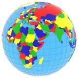 Eastern Hemisphere on Earth Royalty Free Stock Photos