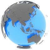 Eastern Hemisphere on the planet Stock Images