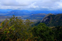 Eastern Highlands of Zimbabwe. A view of the Eastern Highlands of Zimbabwe from Cecilkop outside the town of Mutare Stock Photo
