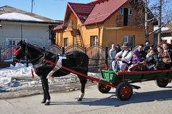 Eastern holiday. Every March, the Bulgarian community in Targoviste city of Romania celebrates the Eastern of the horses. People thank the horses for their help Stock Image