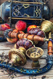 Eastern hookah with fruit Royalty Free Stock Photo