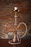 Eastern hookah on wood table. Close up Stock Images