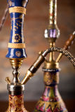 Eastern hookahs. Isolated in studio close up Stock Photo