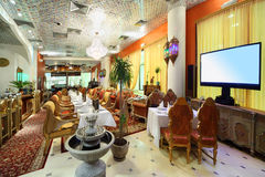 Eastern interior of luxury restaurant Stock Photography