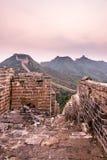 eastern Jinshanling Great Wall Stock Photography