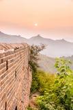 eastern Jinshanling Great Wall Stock Photo