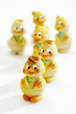 Eastern, Marzipan figurines, chicks Royalty Free Stock Photos