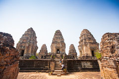 Eastern Mebon temple at Angkor wat complex, Cambodia. Royalty Free Stock Images