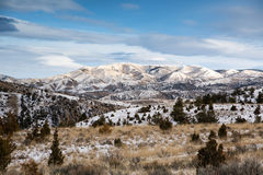 Eastern Montana Hill Country in the Winter Royalty Free Stock Photography