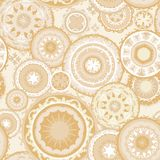Eastern Morocco Vector Pattern in Sand Colors Royalty Free Stock Images