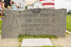 The eastern most point in the U.S.A Stock Photography