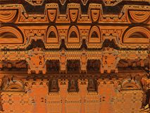 Eastern motive. Fractal image is very similar to the oriental palace Stock Images