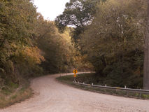Eastern Nebraska curvy gravel road in autumn Stock Photography