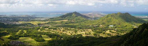 Eastern Oahu Panorama Royalty Free Stock Photo