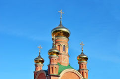 Eastern orthodox cathedral Royalty Free Stock Images