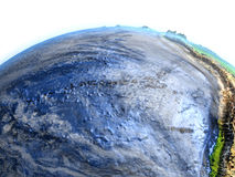 Eastern Pacific on Earth - visible ocean floor Stock Image