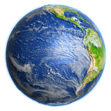 Eastern Pacific on Earth - visible ocean floor Stock Photo