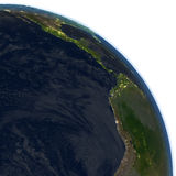 Eastern Pacific at night on planet Earth Stock Image