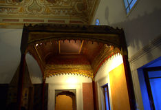 Eastern palace bedchamber. Part of bedroom in Topkapi palace,Istanbul Turkey Stock Photos