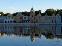 Eastern Palace at lake by twilight Royalty Free Stock Image