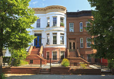 Eastern Parkway Brownstones Royalty Free Stock Photography