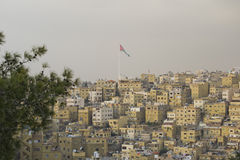 Eastern Part of Amman. Taken from the Old Citadel Mountain pointing to the eastern part of Amman Stock Images