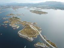 Eastern part of the Atlantic road Royalty Free Stock Photos
