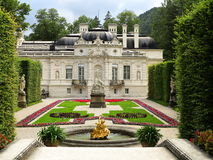 Eastern Paterre gardens at Linderhof Palace Royalty Free Stock Photography