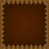 Eastern pattern frame Royalty Free Stock Photos