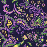 Eastern patterns seamless. Colorful dark blue seamless with eastern patterns Royalty Free Stock Photography