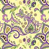 Eastern patterns seamless. Colorful seamless with eastern patterns on dark background Stock Photos