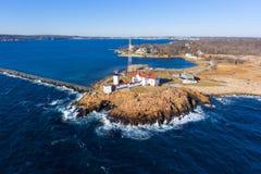 Eastern Point Lighthouse, Cape Ann, Massachusetts Royalty Free Stock Photo