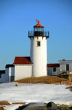 Eastern Point Lighthouse, Cape Ann, Massachusetts. Eastern Point Lighthouse in winter, Cape Ann, northeastern Massachusetts, USA. This historic lighthouse was stock photo