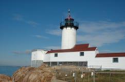 Eastern Point Lighthouse, Rear View, Gloucester, MA Stock Photos