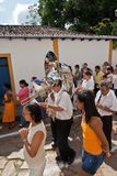 Eastern Procession Tiradentes Brazil Stock Images