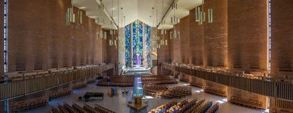 Eastern Promise of everlasting life. The Chapel of the Resurrection on the capus of Valparaiso University, Indiana.  View to the East Royalty Free Stock Photos