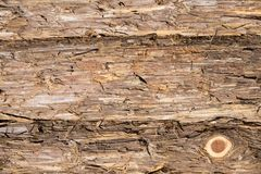 Eastern red cedar bark boards. With knot Stock Photo