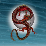 Eastern Red Dragon Royalty Free Stock Photo