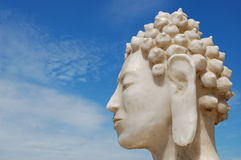 Eastern religion freedom. An image of buddha with a blue sky Stock Photography