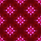 Eastern romance red wallpaper. Beautiful romantic seamless design in red and pink reminiscent of hot eastern nights for wrapping paper, background, fabric or stock illustration