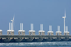 Eastern Scheldt storm surge barrier, Netherlands Royalty Free Stock Photography