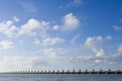 Eastern Scheldt storm surge barrier royalty free stock photo
