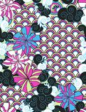 Eastern seamless pattern. Like Japanese ornament Stock Images